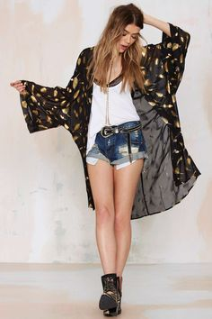 Birds of Paradise Sheer Kimono | Shop Clothes at Nasty Gal!