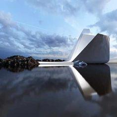 Concept 57 by Ukrainian designer and architect, Roman Vlasov. Conceptual Architecture, Futuristic Architecture, Amazing Architecture, Contemporary Architecture, Interior Architecture, Building Structure, Building Design, Casa Magna, Colani