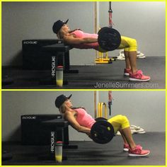 One of my favorite Glute & hamstring exercises !  It's no impact on your joints but super effective. I used a #pumpbarbell from Beachbody with 20lbs on each side (not sure how much the bar weighs). You could use dumbbells. Hold the contraction for a second on the lift I did 4 sets of 16-20 along with the rest of my #legday exercises. If you struggle with lifting weights because you don't know where to begin, or what to do, consider incorporating ChaleanExtreme, BodyBeast or 21DayFixExtreme