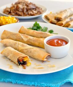 Mexican Spring Rolls - A great Mexican inspired appetizer, so easy to make and unbelievably delicious!
