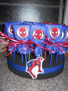 centros de mesa de spiderman - Google Search