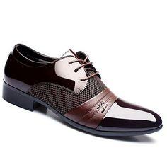 Stylish Splicing and Pointed Toe Design Men's Formal Shoes #>=#>=#>=#>=#> Click on the pin to check out discount price, color, size, shipping, etc. Save and like it!