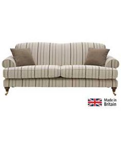 Heart of House Sherbourne Striped Large Sofa - Natural.