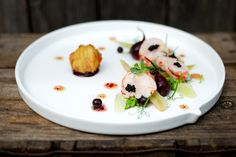 Salad of Lobster, Fennel and Beetroot with Savoury Blackcurrants - the British Larder