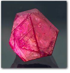 A perfect hexagonal Ruby crystal from Mozambique
