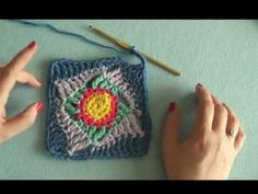 How to: Make the Wonky Squares Motif (crochet) - YouTube