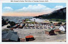 Postcard: Tent City,Topanga Beach,California.
