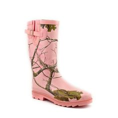 Camo Women's Funky Rain Boots will be perfect in the city or country. Make a statement in the rain.