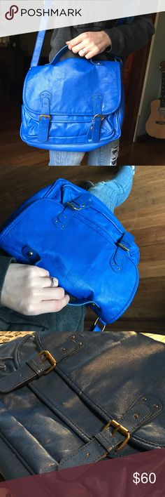 Gorgeous Blue XXI Crossbody Leather XXI Blue Purse Excellent condition Very clean XXI Bags Crossbody Bags