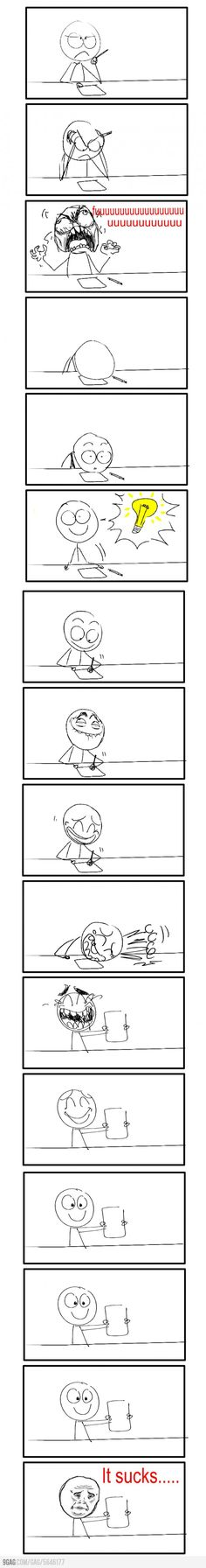 Everytime i write a plot or draw... or do anything with paper and a pen...
