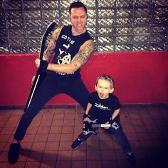 matt tuck and son Am I Going Insane, Bullet For My Valentine, Christmas Sweaters, Musicians, Fashion, Moda, Fashion Styles, Christmas Jumper Dress, Music Artists