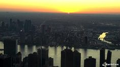 EarthCam teamed up with Affinia Dumont and Hyatt Regency Jersey City to deliver live views of New York City. Explore Midtown Manhattan and get the perfect look at some of the city's most recognizable landmarks, including the impressive Chrysler Building. Nyc Skyline, Chrysler Building, Jersey City, Live In The Now, Manhattan, New York City, River, Explore, Outdoor