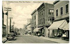 West New Brighton Staten Island NY Store Fronts on Castleton Avenue Postcard   eBay