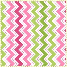 Tonal Pink, Lime Green, White Small Chevron by Maywood Studios Merry And Bright, Bright Pink, Pink And Green, Chevron Fabric, Green Chevron, Christmas Fabric, Christmas 2015, Cotton Fabric, Stripes