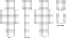 design your own minecraft skin printable template - Google Search ...