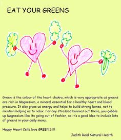 Happy Heart Cells Love Greens !!!