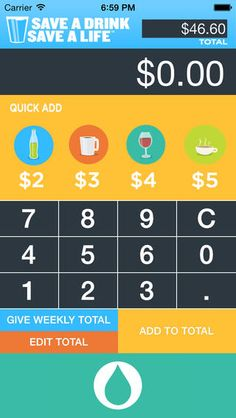 Need help figuring out how much you've saved?  Download our Save a Drink Tracker AP and start calculating. We can't wait to see what you do!