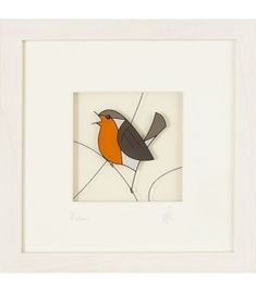 Black Hen Designs create a beautiful range of original glass paintings and prints inspired by the Irish countryside and brought to life by use of vivid colours. Vivid Colors, Colours, Robin, December, The Originals, Glass, Frame, Prints, Painting
