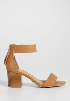 Cheri faux suede block heel in tan (original price, $34.00) available at #Maurices