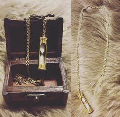 Hourglass Pendant Necklace