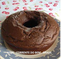 BOLO DE CACAU COM KEFIR DE LEITE Kombucha, Healthy Chocolate, Chocolate Recipes, Healthy Muffins, Low Carb Diet, Coco, Doughnut, Food Art, Good Food