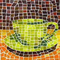 Mozaiken met papier! Ivm kleurtinten misschien gratis verfmonsters-papiertjes bij doe het zelver halen?