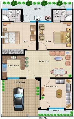 This 25 50 house plans auric 4 728 latest capture 25 50 plan west facing photos and collection about 50 25 50 house plans great. House plans for site house Plans images that are related to it 10 Marla House Plan, 2bhk House Plan, Model House Plan, House Layout Plans, Small House Plans, Home Map Design, Home Design Floor Plans, Bungalow House Design, Interior Design