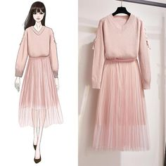 Match – Page 10 – Orchidmet Cute Fashion, Modest Fashion, Hijab Fashion, Korean Fashion, Girl Fashion, Fashion Looks, Fashion Drawing Dresses, Fashion Dresses, Dress Sketches