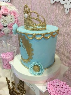 Incredible cake at a Cinderella princess birthday party! See more party ideas at http://CatchMyParty.com!
