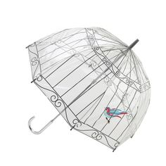 Collaboration with Lulu Guinness and Fulton Umbrellas. Transparent dome shaped design in high grade PVC. 8 extra strong fibreglass ribs. Rib length 64cm. 100% PVC.