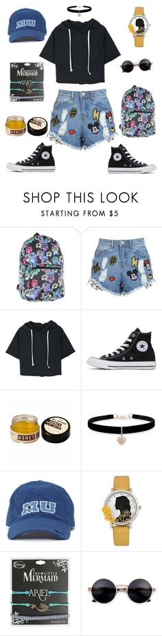 """""""Road trip with Disney"""" by mississippimsu ❤ liked on Polyvore featuring Disney, Converse and Betsey Johnson"""