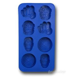 The Marvel Heroes Ice Cube Tray is a flexible rubber tray that will form eight fun Marvel Comics'-themed ice shapes when it's filled with water and frozen. Ice Molds, Candy Molds, Best Ice Cube Trays, Ice Tray, Iron Man Merchandise, Iron Man Helmet, Ice Ice Baby, Cool Inventions, Last Minute Gifts