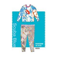 DEGEN in Pantone Scuba Blue - SPRING 2015 PANTONE's #FashionColorReport