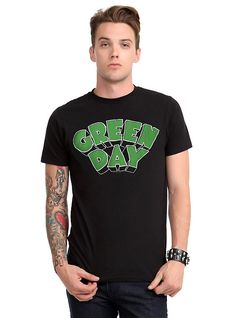 T-shirts Strong-Willed Green Day Gas Mask Black Album Cover Punk Rock Music Mens T-shirt Back To Search Resultsmen's Clothing