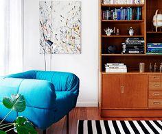 Interior Designer Lauren Li's Creative Home Renovation Decor, Chair Design Modern, 2015 Interior Design, Colourful Living Room, Living Room Designs, Mid Century Modern Cabinets, Creative Home, Interior Design, Home Renovation