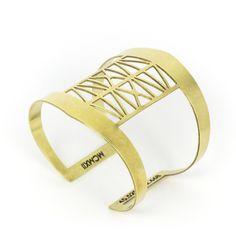 Steel Bridge Cuff Bracelet   betsy & iya