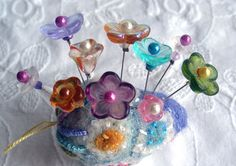 Stick With Me Assorted Pins Pretty Pins for by fiberluscious, $12.00
