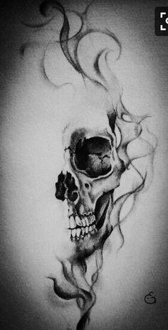 skull tattoos for women ; skull tattoos for women half sleeves ; skull tattoo for men ; skull tattoos for women small ; skull tattoo design for men ; Floral Tattoo Design, Skull Tattoo Design, Flower Tattoo Designs, Flower Tattoos, Skull Design, Design Design, Kunst Tattoos, Neue Tattoos, Body Art Tattoos