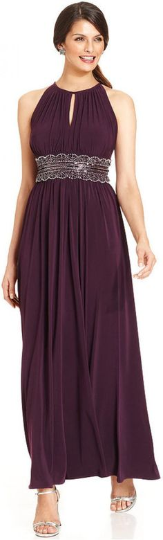 $93 T10P Make a stunning style statement in this petite evening dress from R