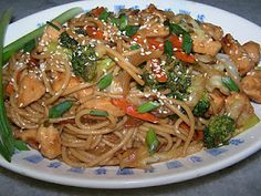 Gluten free Chicken Lo Mein is easy to make at home.  If you make Chinese takeout at home you can control all of the ingredients.
