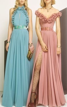 Sexy Long Evening Dress, New Fashion Dress, Sleeveless Ruffled Gown, Cheap Long Prom Dress - Style Evening Dresses Cheap Gowns, Cheap Prom Dresses, Bridesmaid Dresses, Cheap Dress, Blue Ball Gowns, Blue Gown, Pretty Prom Dresses, Party Gowns, Looks Vintage