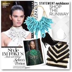 #Statement Necklaces - Balmain 2016 by nikkisg on Polyvore featuring moda…