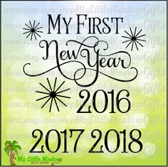 My First New Year Title Design Digital Clipart Cut File Instant Download Jpeg Png SVG EPS DXF Formats - pinned by pin4etsy.com