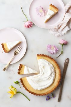 Grapefruit Lemon Tart Recipe with whipped cream