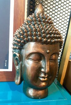 Decoración : Cabeza Buda Grande Buda Zen, Zen Room, Buddha Buddhism, Ganesha, Feng Shui, Decoupage, Wings, Pottery, Grande