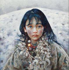 Tibet Girl by Ai Xuan   Cuded