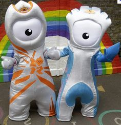 New mascots: The Olympic mascot Wenlock, left, and the Paralympic mascot Mandeville are unveiled in East London today. They were created from 'two drops of steel from the Olympic Stadium' Kids Olympics, Summer Olympics, Beijing, Olympic Mascots, London Olympic Games, Theme Days, Summer Activities For Kids, Kid Activities, Mascot Design