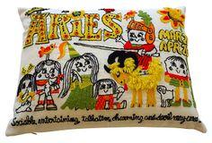 Aries Crewel Pillow on OneKingsLane.com