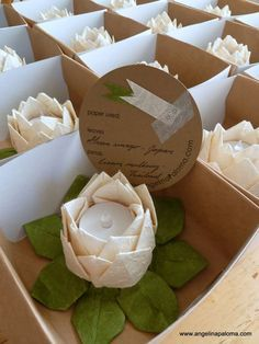 Lanterns origami wedding favors