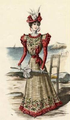 The Barrington House: 1897 fashion plate